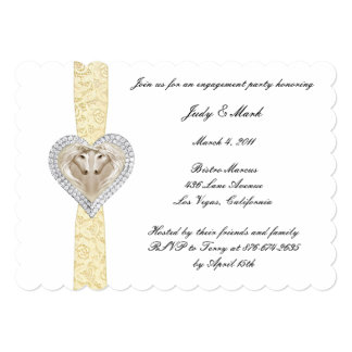 Unicorn Yellow Lace Engagement Party Invitation