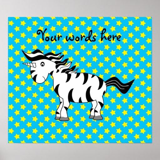 Unicorn zebra poster
