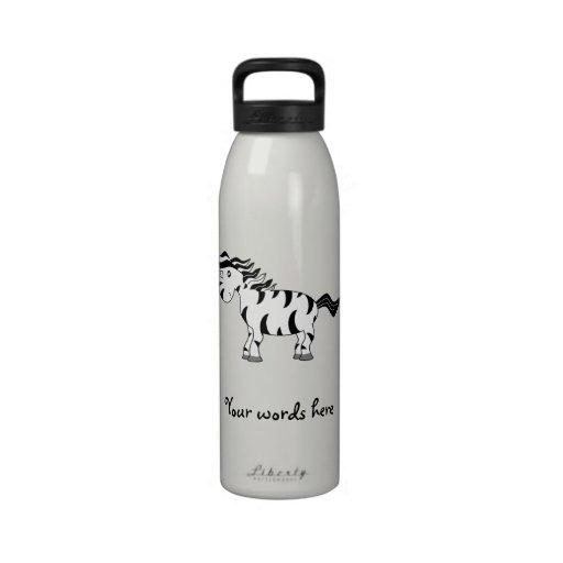 Unicorn zebra water bottle