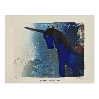 Unicornio 1975 del Adi Holzer Tarjetas Postales