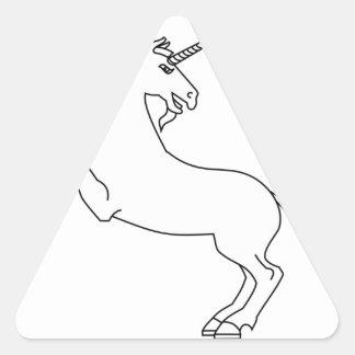 Unicornio #2 pegatina triangular
