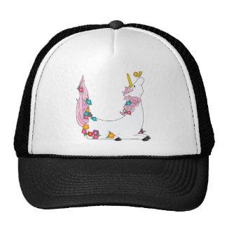 Unicornio animal del alfabeto gorros