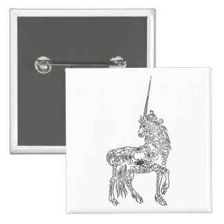 Unicornio antiguo de la caligrafía del Flourish de Pin