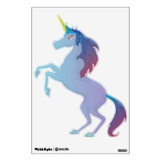 Unicornio azul lindo vinilo