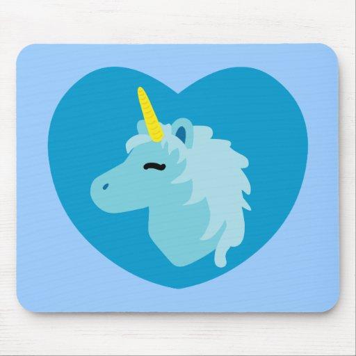 Unicornio azul mouse pads