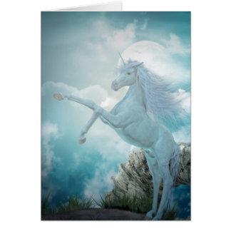 unicornio azul tarjeta de felicitación