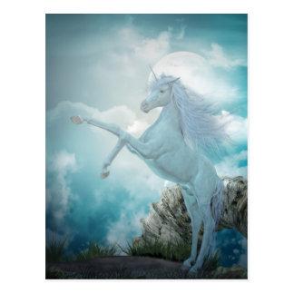 unicornio azul tarjeta postal