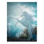 unicornio azul tarjetas postales