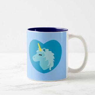 Unicornio azul tazas