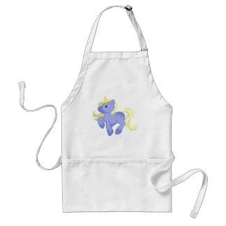 Unicornio azul y amarillo lindo delantal