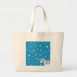 Unicornio azul y blanco de Pegaso Bolsa De Mano