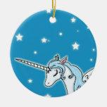 Unicornio azul y blanco de Pegaso Ornatos
