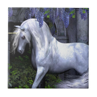 Unicornio Azulejo Cuadrado Pequeño