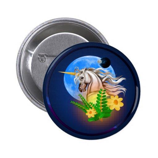 Unicornio blanco, botón extranjero del mundo pins