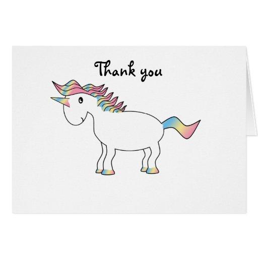 Unicornio blanco lindo del arco iris tarjeta de felicitación