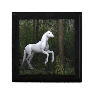 Unicornio blanco majestuoso caja de regalo