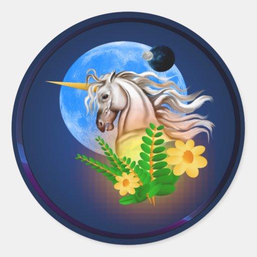 Unicornio blanco, pegatina extranjero del mundo