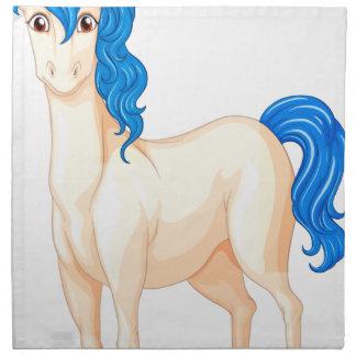 Unicornio blanco servilletas imprimidas