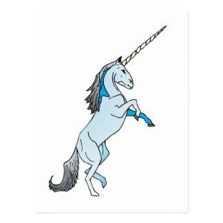 Unicornio blanco tarjeta postal