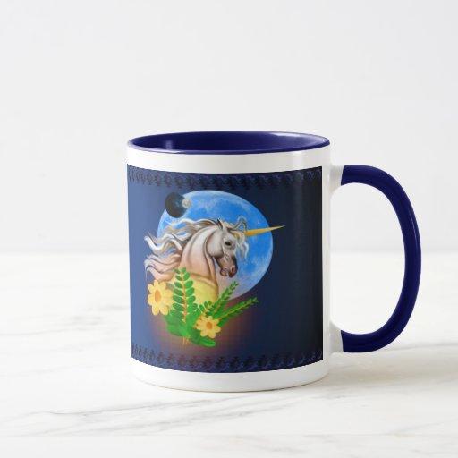 Unicornio blanco, taza extranjera del mundo