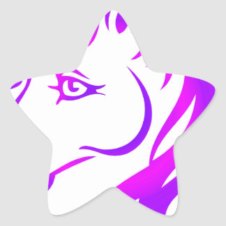 Unicornio bonito pegatina en forma de estrella