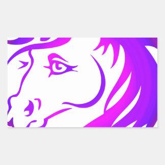 Unicornio bonito pegatina rectangular