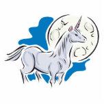 unicornio bonito y Luna Llena Escultura Fotográfica