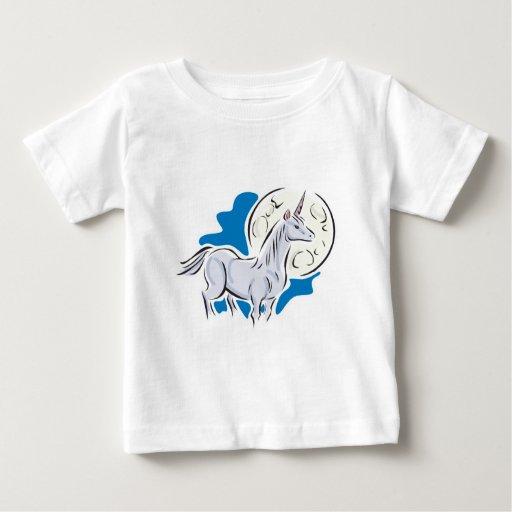 unicornio bonito y Luna Llena T Shirts