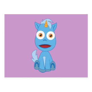 Unicornio - carácter lindo de la fantasía postal