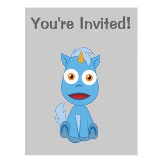 Unicornio - carácter lindo de la fantasía tarjeta postal