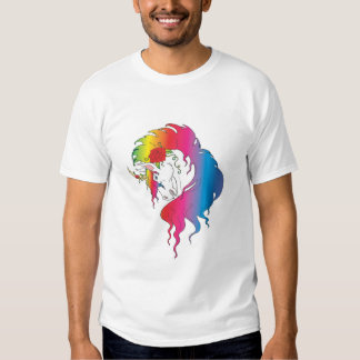unicornio color de rosa del arco iris playeras