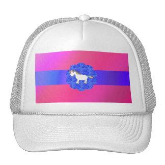 Unicornio color de rosa gorra