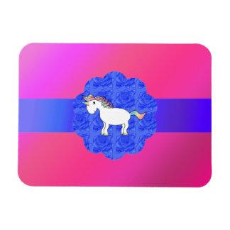 Unicornio color de rosa rectangle magnet