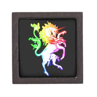 Unicornio colorido cajas de regalo de calidad
