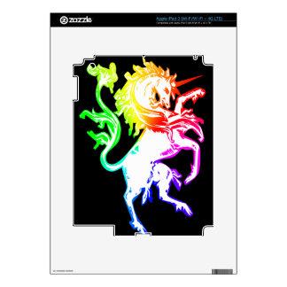 Unicornio colorido iPad 3 skin