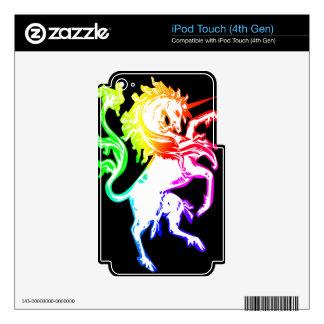 Unicornio colorido iPod touch 4G skins