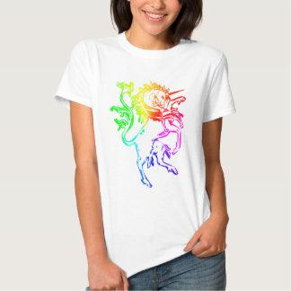 Unicornio colorido playeras