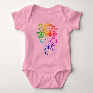 Unicornio colorido polera