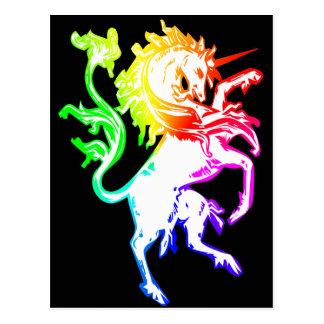 Unicornio colorido postales