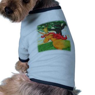 Unicornio colorido camiseta con mangas para perro