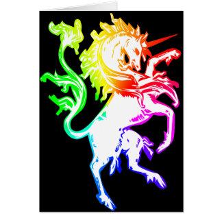 Unicornio colorido tarjeta de felicitación