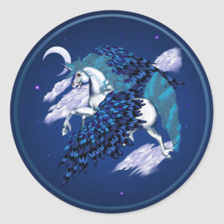 Unicornio con alas - pegatinas pegatinas redondas
