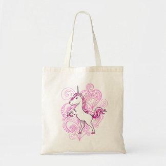 Unicornio con el bolso del fondo de la alheña del  bolsas de mano