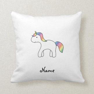 Unicornio conocido personalizado del bebé del arco cojines