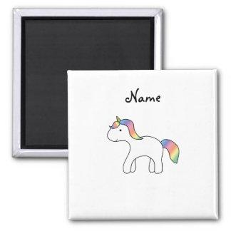 Unicornio conocido personalizado del bebé del arco imán de frigorífico