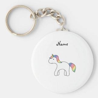 Unicornio conocido personalizado del bebé del arco llavero redondo tipo pin