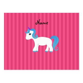 Unicornio conocido personalizado postales