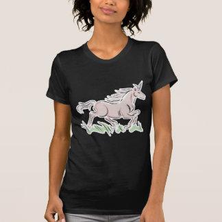 unicornio corriente del rosa salvaje camiseta