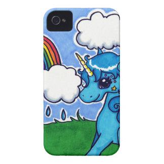 Unicornio Cutesy y arco iris iPhone 4 Fundas