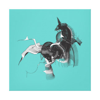 Unicornio de Digitaces Lienzo Envuelto Para Galerías